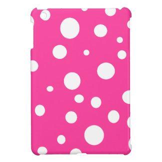 Rosa con la diversión femenina de los lunares blan iPad mini funda
