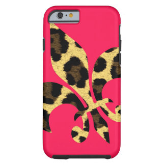 Rosa con la flor de lis del leopardo