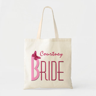 Rosa con la novia personalizada mariposa bolsa tela barata