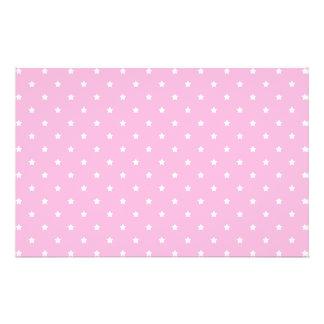 Rosa con las pequeñas estrellas blancas tarjetas publicitarias