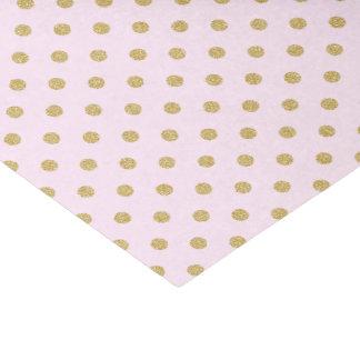 Rosa con los lunares del oro papel de seda pequeño