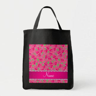 Rosa conocido de encargo en las cales rosadas del bolsa tela para la compra