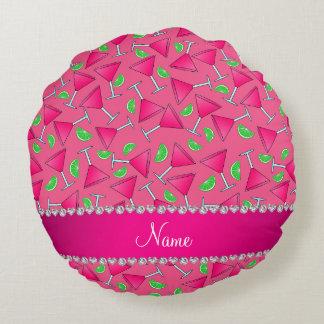 Rosa conocido de encargo en las cales rosadas del cojín redondo
