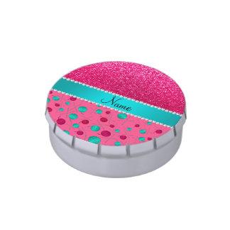 Rosa conocido personalizado que hace punto brillo jarrones de caramelos