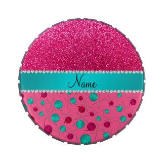 Rosa conocido personalizado que hace punto brillo frascos de caramelos