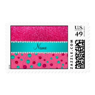 Rosa conocido personalizado que hace punto brillo sello postal