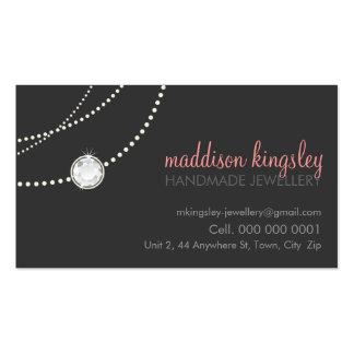 rosa coralino gris del solitario elegante elegante tarjetas personales