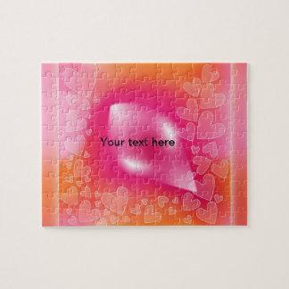 Rosa - corazones anaranjados puzzle