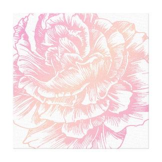 Rosa cremoso de 311 Le Plush Fleur Lienzo Envuelto Para Galerías