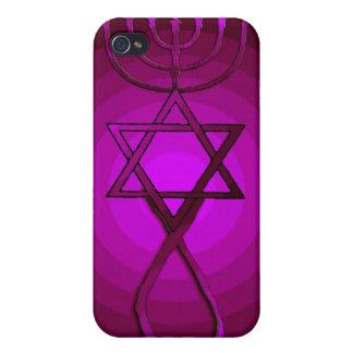 ROSA cristiano judío mesiánico IPhone del ARTE POP iPhone 4 Carcasa