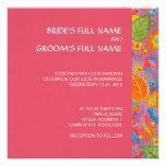 Rosa cuadrado de la invitación del boda de Ganesh
