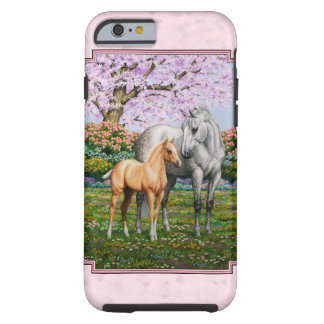Rosa cuarto de la yegua y del potro del caballo funda de iPhone 6 tough