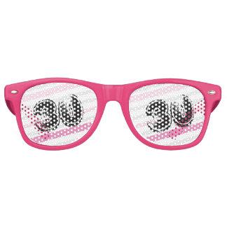 rosa de 30 años Bday - trigésimo cumpleaños Lentes De Sol