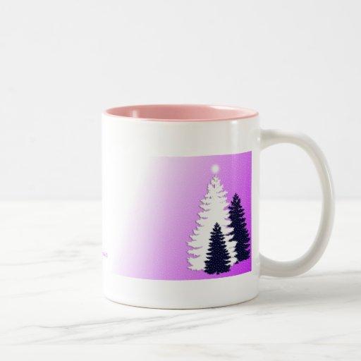 rosa de 3 árboles taza de café
