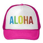 Rosa de arco iris de la hawaiana gorros bordados