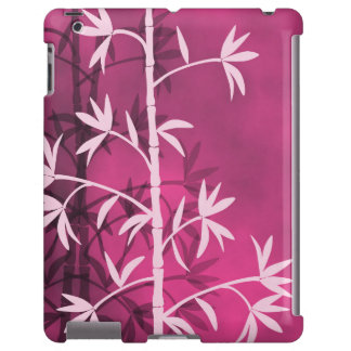 Rosa de bambú rosado funda para iPad