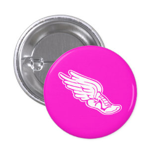 Rosa de botón del logotipo de la pista pins