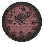 Rosa de bronce pesado de la porta de Steampunk Relojes