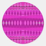 rosa de centro pegatina redonda