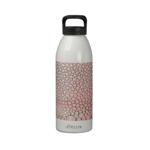 Rosa de color salmón de Shagreen Botella De Agua