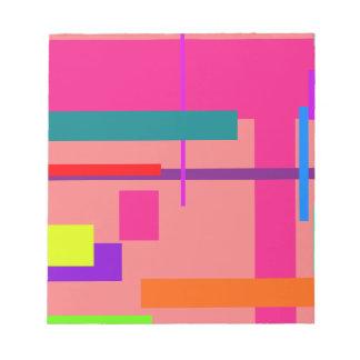 Rosa de color salmón del espacio artístico bloc de notas