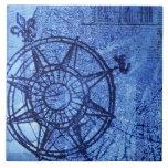 Rosa de compás antiguo azulejo cuadrado grande
