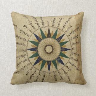 Rosa de compás antiguo del atlas almohada