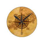 Rosa de compás antiguo del estilo relojes