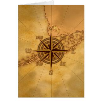 Rosa de compás antiguo del estilo tarjeta de felicitación