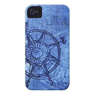Rosa de compás antiguo iPhone 4 Case-Mate protectores