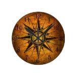 Rosa de compás antiguo reloj redondo mediano