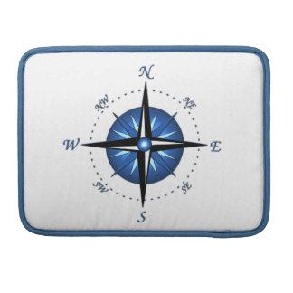Rosa de compás azul funda macbook pro