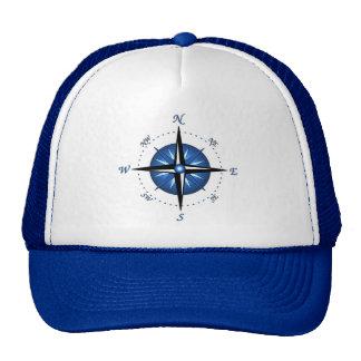 Rosa de compás azul gorra
