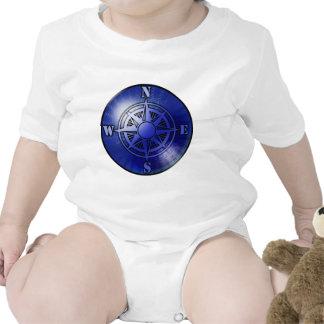 Rosa de compás azul trajes de bebé