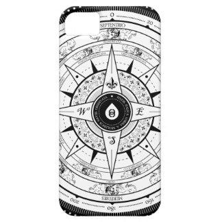 Rosa de compás - caso Iphone5 blanco iPhone 5 Case-Mate Protector