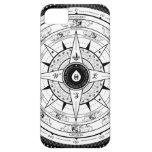 Rosa de compás - caso Iphone5 (blanco) iPhone 5 Case-Mate Protector