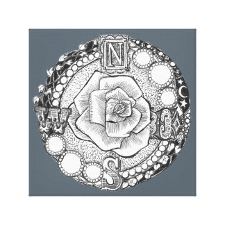 Rosa de compás de Steampunk del Victorian Impresión En Lienzo