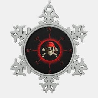 Rosa de compás del pirata adorno