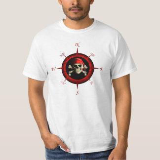 Rosa de compás del pirata playera