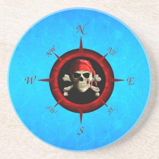 Rosa de compás del pirata posavasos personalizados
