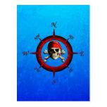Rosa de compás del pirata postal