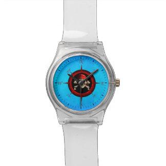 Rosa de compás del pirata relojes de mano