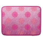 Rosa de compás náutico rosado funda para macbook pro