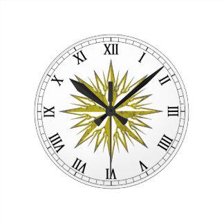 Rosa de compás reloj redondo mediano