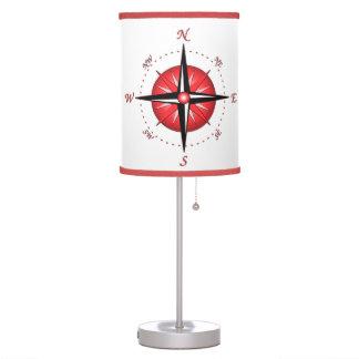 Rosa de compás rojo lámpara de mesilla de noche