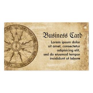 Rosa de compás viejo tarjetas de visita