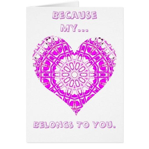 Rosa de cristal del mosaico del efecto (corazón) felicitación