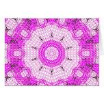 Rosa de cristal del mosaico del efecto tarjetas