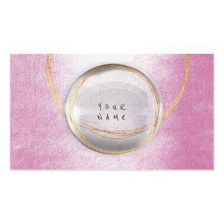 Rosa de cristal Vip del polvo de la hoja de oro Tarjetas De Visita