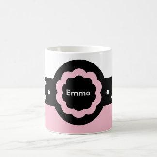 Rosa de Emma y taza punteada blanco: 369